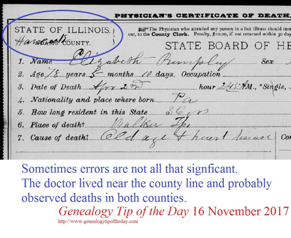 What Sort of Error Is That? | Genealogy Tip of the Day