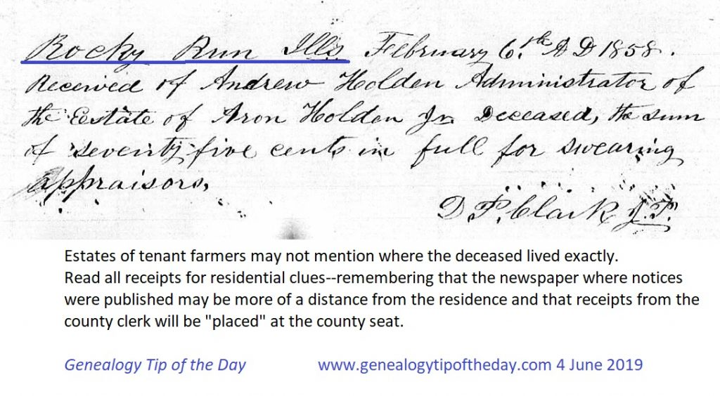 June   2019   Genealogy Tip of the Day